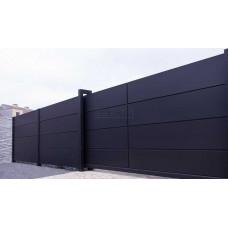 Откатные ворота SELECT серии PANEL, размер 5500х2000
