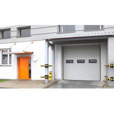 Промышленные секционные ворота Алютех ProPlus 3000х4500