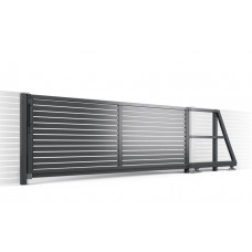 Откатные ворота SELECT серии LINE, размер 5000х2000
