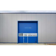 Промышленные секционные ворота Алютех ProPlus 4000х7000