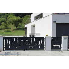 Откатные ворота SELECT серии CREO, размер 4000х2000 мм