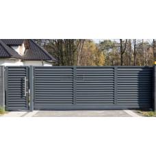Откатные ворота SELECT серии JALUZI, размер 4000х2300